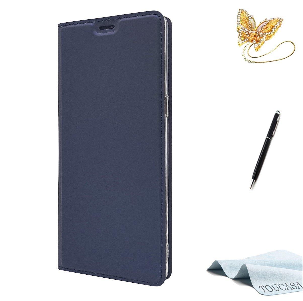 Coque Galaxy S7 Edge, Housse Galaxy S7 Edge, TOUCASA Coque Cuir PU Luxe Portefeuille à aimant Antichoc Béquille Protection Complète Fente Carte [Magnétique caché] 0.2cm [Très mince] 33g [Ultra léger] coque 360 antichoc avec [Garantie à vie] Motif Étui de P