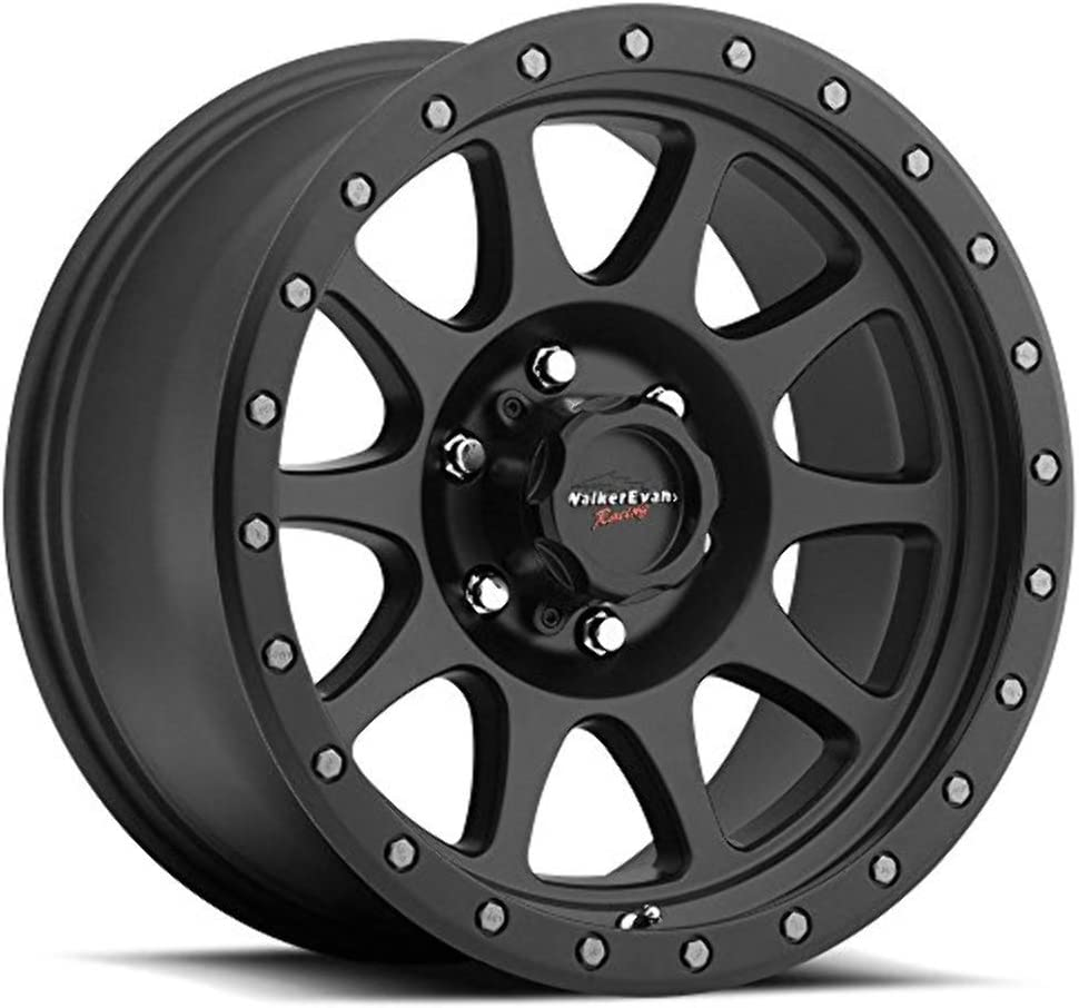 Walker Evans 504SB Legacy Satin Black with Satin Black X-LOK Lip Wheel with Painted Finish (17 x 8.5 inches /6 x 135 mm, 1 mm Offset)