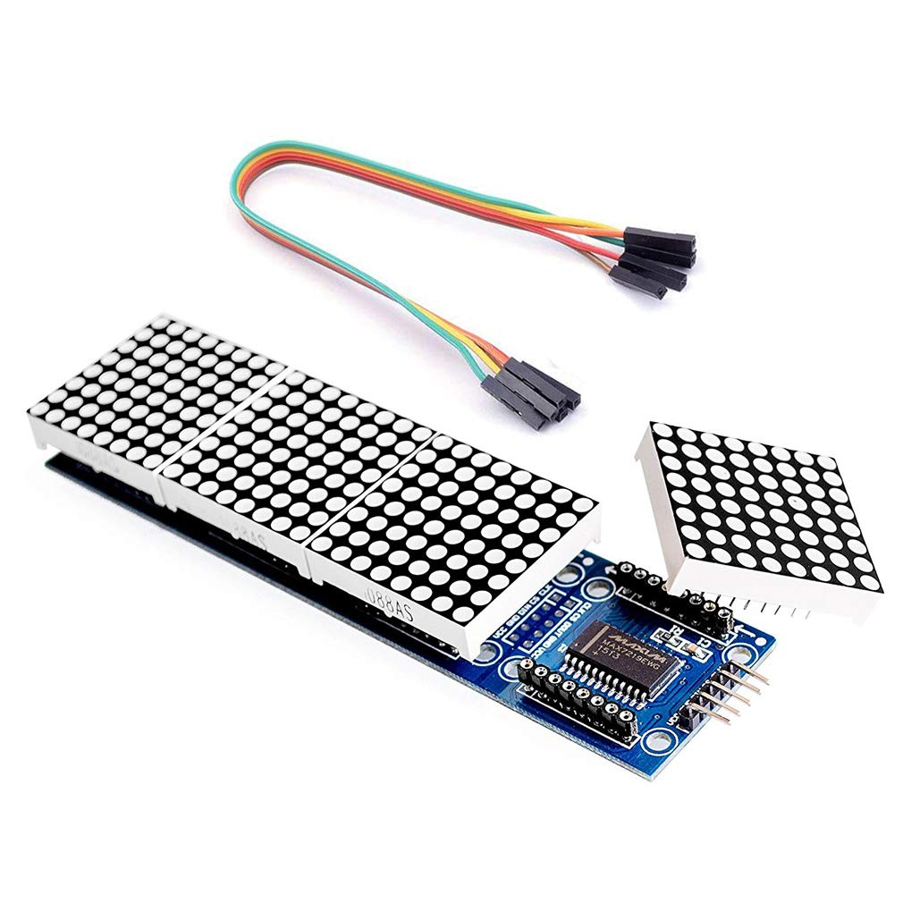 10Pcs Arduino Microcontroller MAX7219 Dot Matrix Module Control Display Kit ff