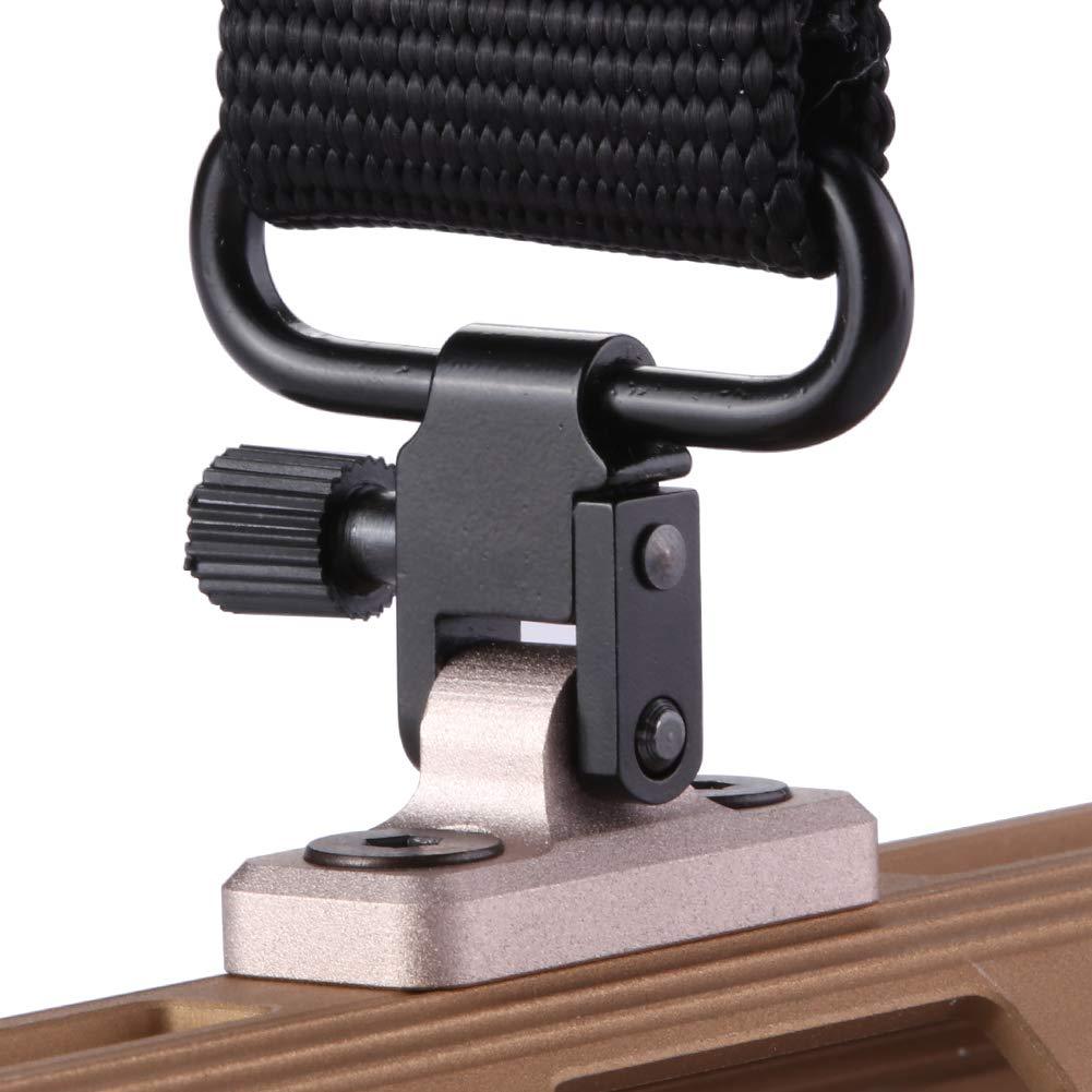 TuFok Mlok Sling Mount Stud - Gun Sling Swivel for M-lok System,Rifle Sling Mount fit Uncle Mikes Style Sling Swivel Stud, Low Profile Design,Aluminum (Tan) by TuFok