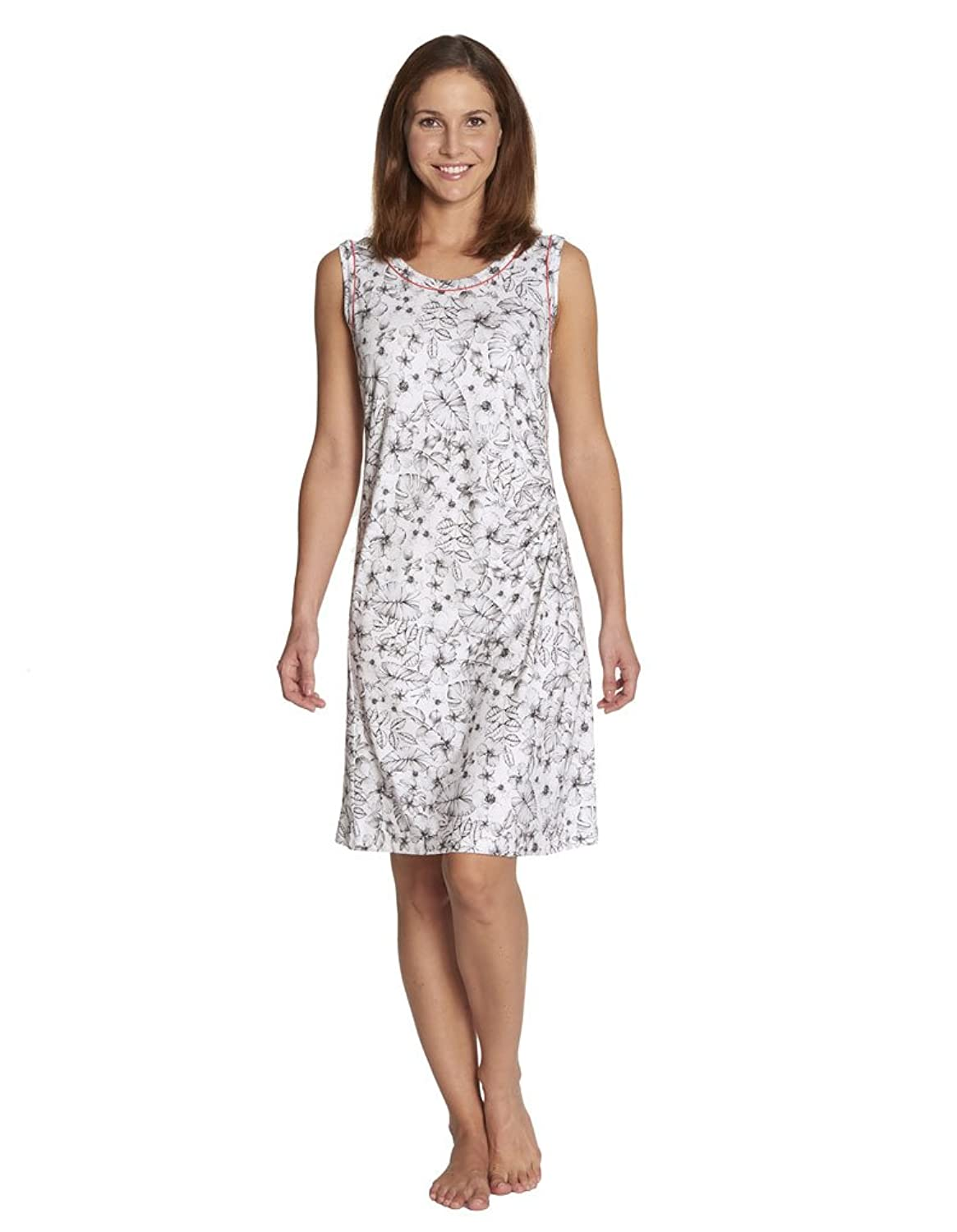 Rosch 1175559-10222 Women's White and Black Floral Beach Dress Cover Up