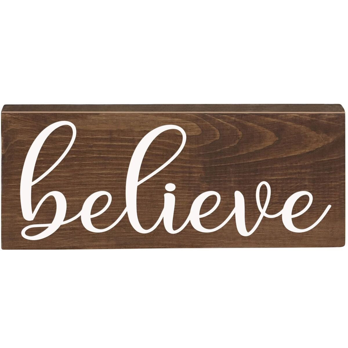 Amazon Believe Inspirational Pine Block Inspirational Quotes