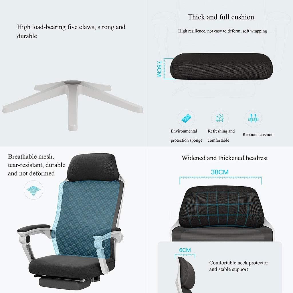 YYL kontorsstol kontorsstol, ergonomisk hög rygg nät datorstol med ländrygg stöd justerbart ryggstöd svängbar stol svängbar stol (färg: Stil4) stil3