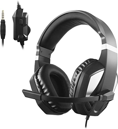 Etpark Stereo Gaming Headset for Xbox one PS4,3.5mm Wired Over Head Stereo Gaming Headset Headphone with Mic Microphone, Volume Control for PS4 PC