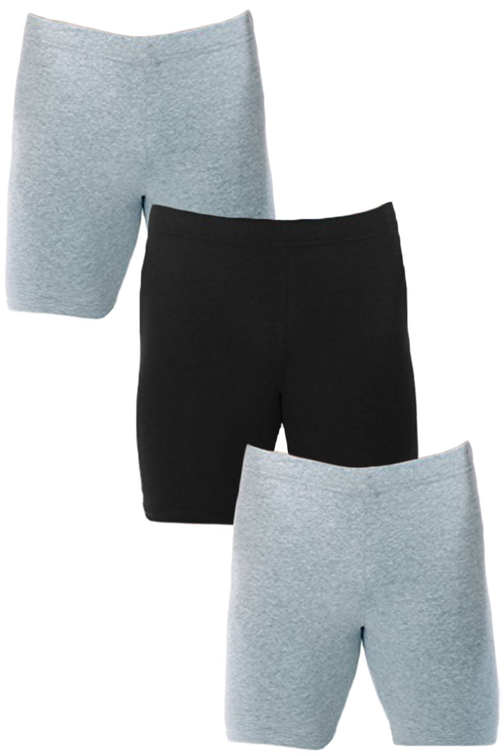 Men's Extreme Core-Champion True Double Dry Compression Short (Small, 3 Pack Grey/Grey/Black)