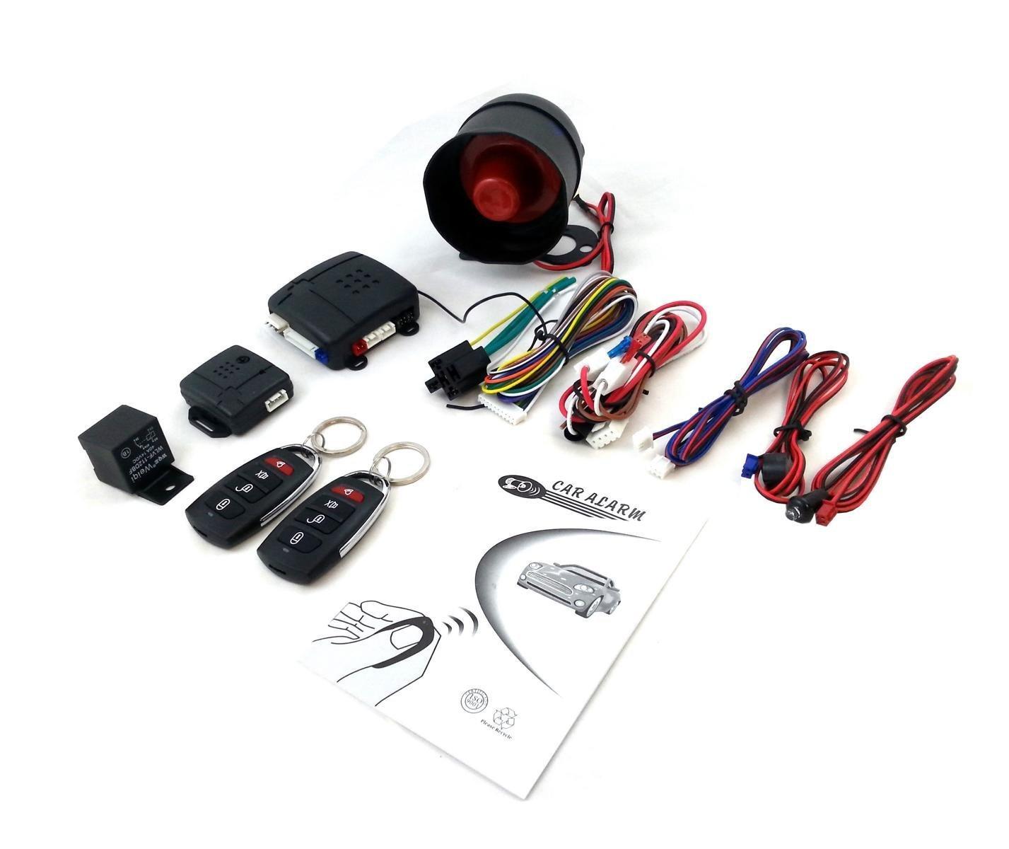 Flexzon Universal Car Security System Alarm Immobiliser Central Shock Circuit Electronic Projects Locking Sensor Motorbike