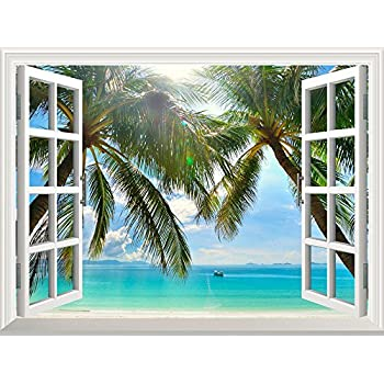 Wall26 Removable Wall Sticker / Wall Mural   Beautiful Sunny Beach On A  Tropical Island With