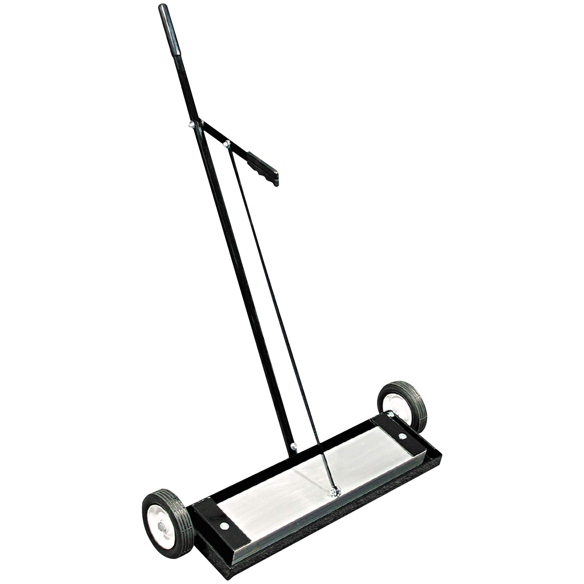 Magnetic Sweeper Push-Type, 24'', 30 1/4'' x 10'' x 38'', Black, 1/Each