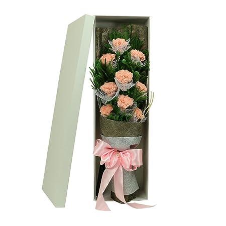 Eternal Flower Gift Box/Carnation Hand Bouquet Of Roses