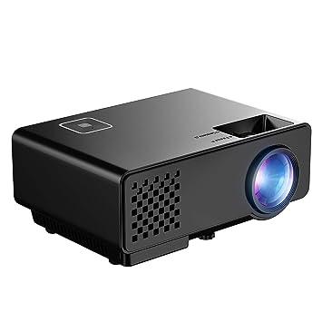 Mini Proyector Full HD, Mpow Proyector Portáti 1080P 1200 Lúmenes con Interfaz de Entrada HDMI, VGA, AV y USB, Mini proyector Perfecto para Jugar PS4, ...