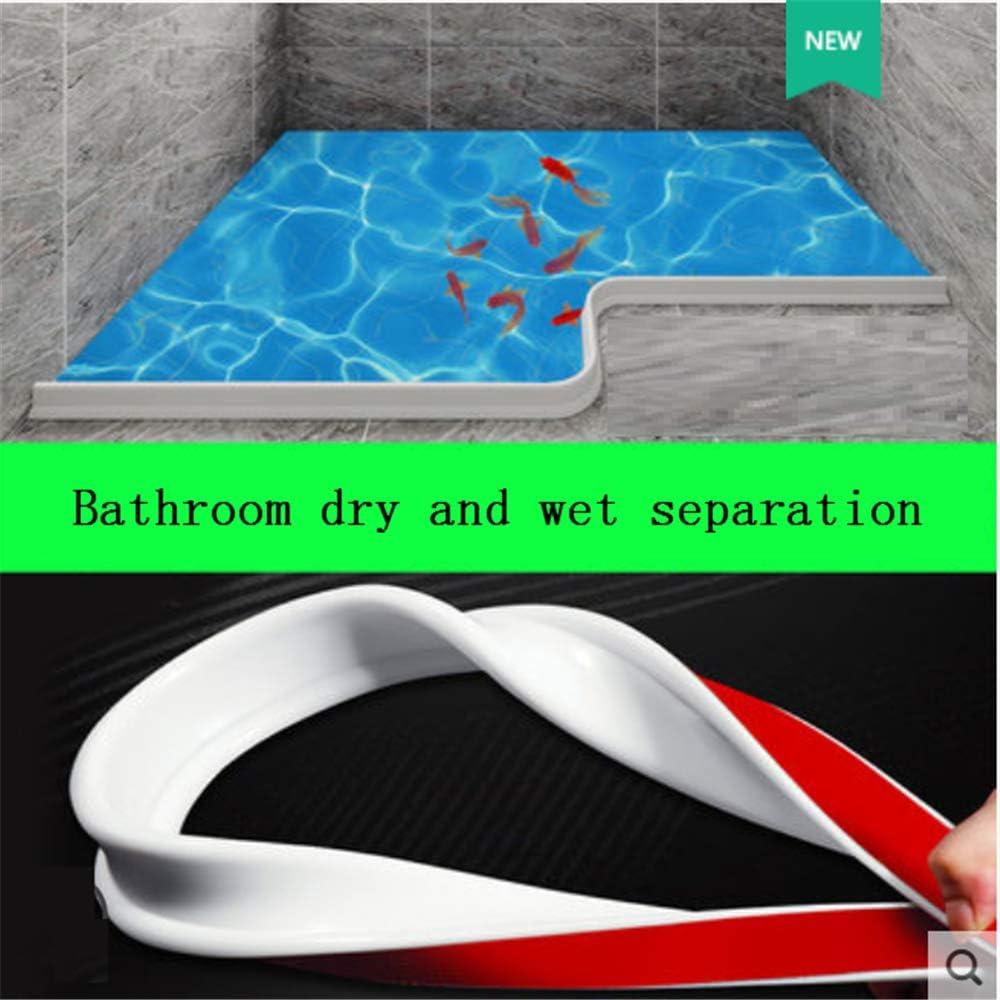 SAVEH Barrera de Agua de Silicona, Cinta autoadhesiva Impermeable para Cocina, baño, Ducha, separación Seca y húmeda (Transparent,80cm): Amazon.es: Hogar