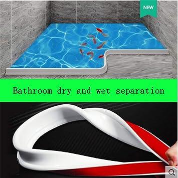 Tira de silicona para barrera de agua de baño Sello de mampara de ducha, tope de