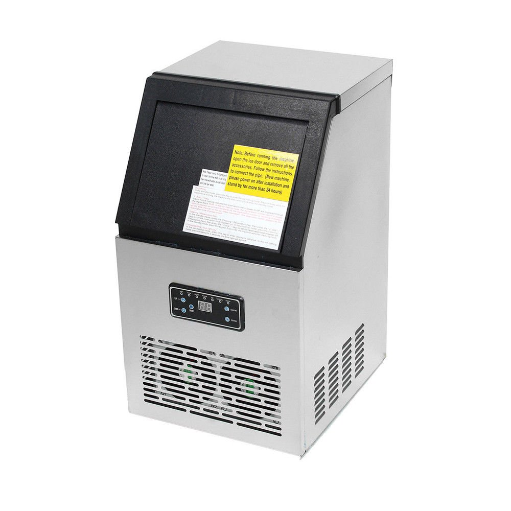 110Lbs Commercial Ice Maker Machine Auto Clear Cube Ice Making 50KG