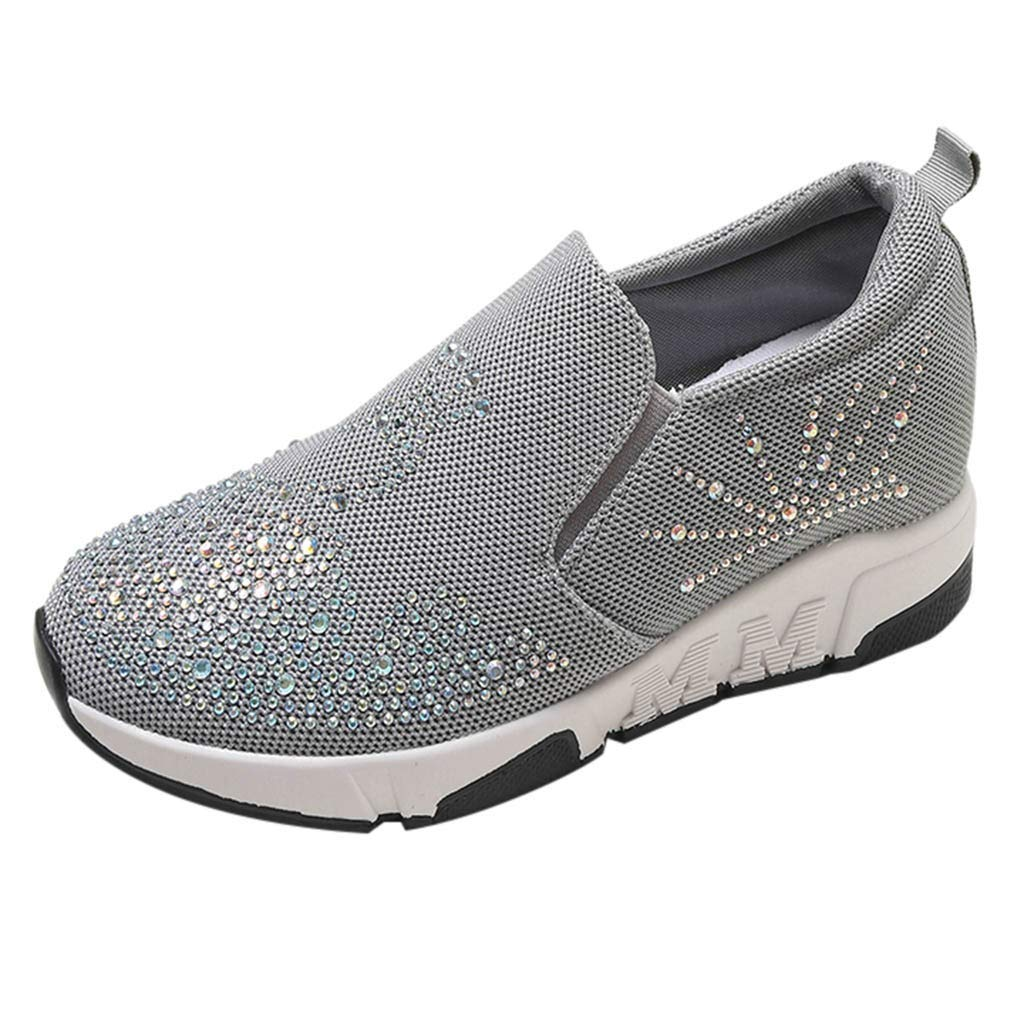 Manadlian Baskets Femmes Chaussures de Course Sneakers Augmentation Interne Outdoor Casual Chaussures de Plates Running Sports Fitness Gym Chaussons Shoes