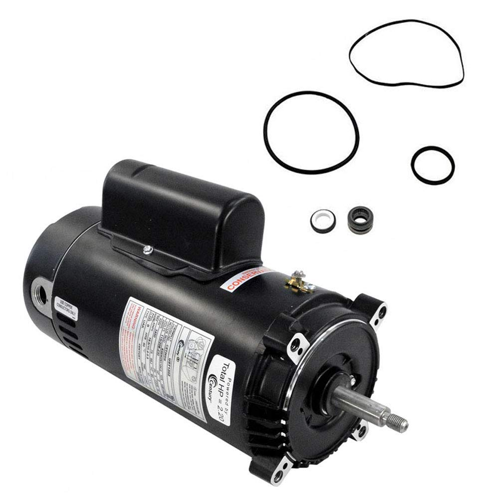 Puri Tech Replacement Motor Kit for Hayward Super II 2HP SP3015X20AZ AO Smith UST1202 w/GO-KIT-2