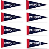 New England Patriots NFL Team Logo Home Office Bedroom Garage Decoration - Mini Pennant Set - 8PC