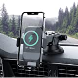 Car Wireless Charger, 15W Auto-Clamping Car Charger Mount, Air Vent Car Charging Holder for iPhone 12/12 Pro/ 11/11 Pro/Xr/Xs