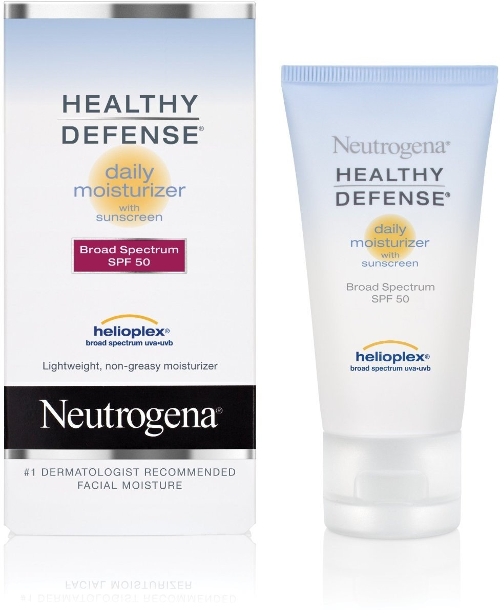 Neutrogena Healthy Defense Daily Moisturizer SPF 50 1.70 oz (Pack of 4)