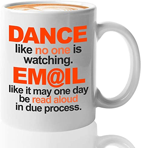 Amazon Com Inspirational Quotes Coffee Mug 11 Oz Dance Like No One Is Watching For Friends Kitchen Dining