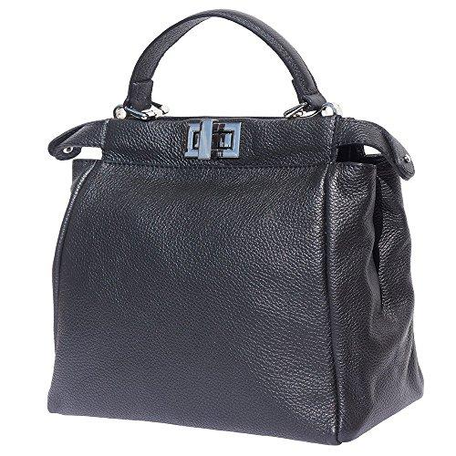 Desmontable Florence Y De Con Correa Market Ajustable Leather 9141 Mano Bolso Negro 4TT1OFq