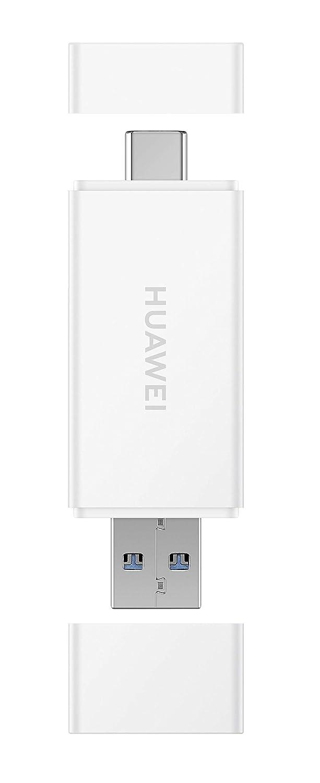 HUAWEI 4071769 - Lector de Tarjetas Nano Memory Card, con Lector Micro SD y conexión USB Tipo C y Tipo B