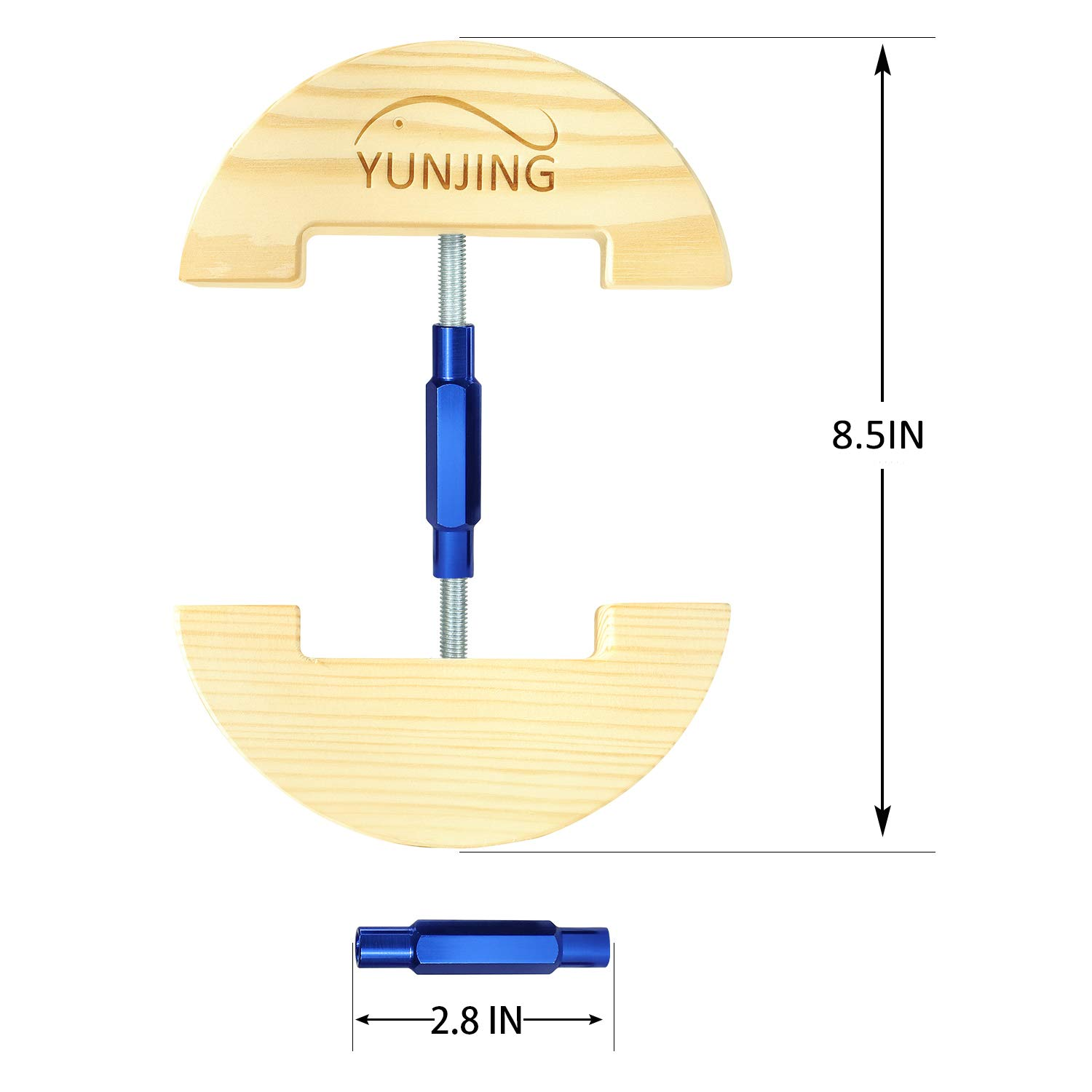 YUNJING Hat Stretcher, One Size Adjustable to All hat Sizes from 6-1/2 to 8-1/2, Three Color, Simple & Easy to Use-Heavy Duty (Blue)