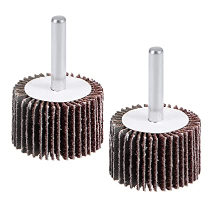 "Sanding Disc shank mounted 50 Abrasive Flap Wheels 1/""x5//8/""x1//4/"" A//O 120 Grit"