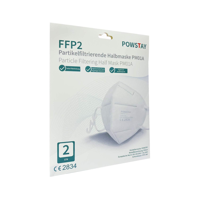 EasyCHEE Powstay PM01A máscara filtrante de partículas FFP2 NR, 2 unidades