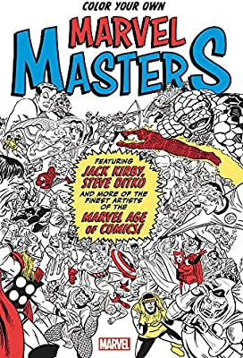 MASTERS DITKO KIRBY MARVEL COMICS 2COLORING BOOKS Color Your Own DOCTOR STRANGE