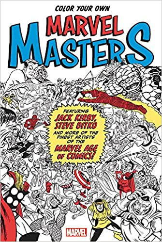 Amazon Color Your Own Marvel Masters 9781302902735 Comics Books