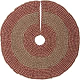 VHC Brands Holiday Decor-Sequoia Red Mini Tree Skirt, 21'' Diameter