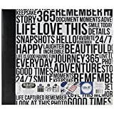 We R Memory Keepers Teresa Collins A-Poundums Made Easy 3-Ring A-Poundum, 12 by 12-Inch, Quoted Black and White Wordfetti