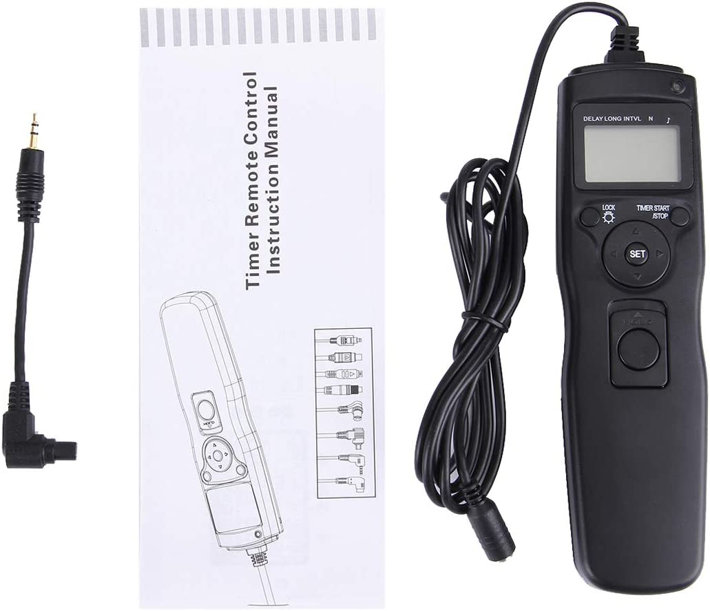 Shutter FOR MOBILEACCESSORIES TL RST-7002 LCD Screen Time Lapse Intervalometer Shutter Release Digital Timer Remote Controller with C8 Cable for CANON 1D//1DS//50D//40D//30D//20D//10D//5D//5D//7D Camera Black