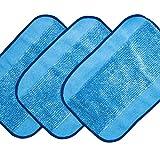 3-pack Wet Microfiber Mopping Cloths Washable&Reusable Mop Pads Fits iRobot Braava 380 380t 320 321 Mint 4200 4205 5200 5200C Robot