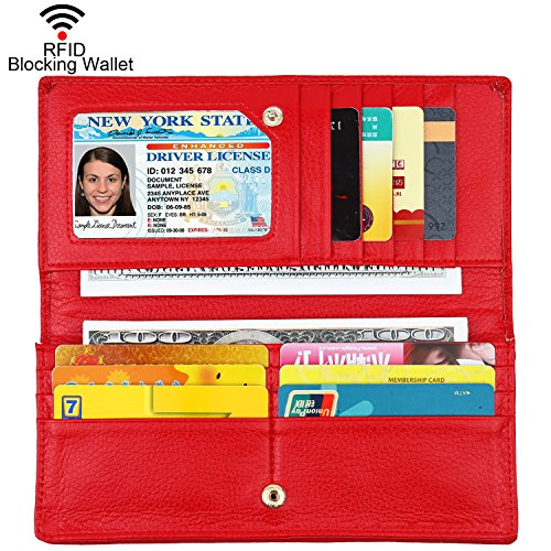 (Lavemi RFID Blocking Ultra Slim Real Leather Credit Card Holder Clutch Wallets for)