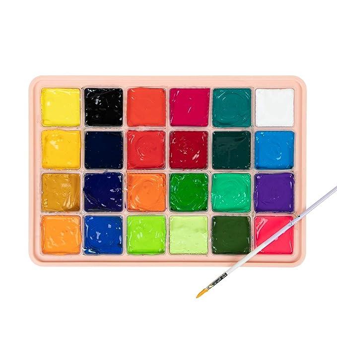 Amazon.com: MIYA HIMI Gouache Juego de pintura 24 colores ...