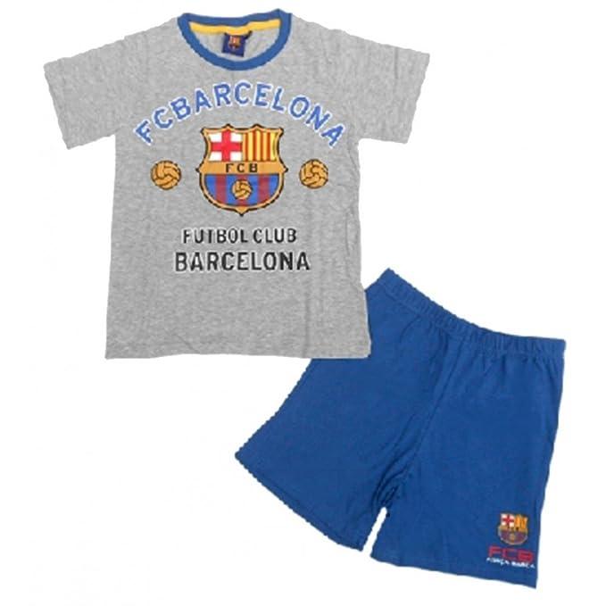 FC Barcelona-Pijama infantil corto, diseño del FC Barcelona, color gris talla de