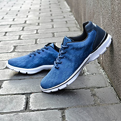 Qansi Mens Sneakers Mush Ultralätt Athletic Tennis Kör Andas Vatten Skor Täpper Sandaler Marinen