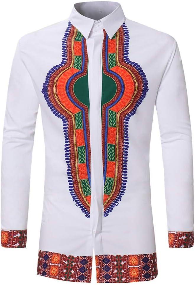 Coohole - Camisa de Manga Larga para Hombre, Estilo Africano, XXXL, Blanco: Amazon.es: Deportes y aire libre