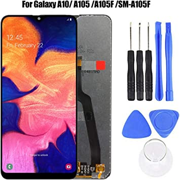 LCD Screen and Digitizer Full Assembly for Galaxy A10 Touch Panel Replacement