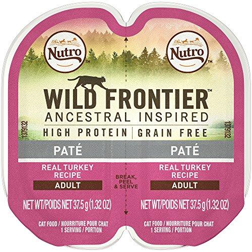 Nutro Wild Frontier High Protein Grain Free Pate Wet Cat Food, Turkey, 2.65 Oz. (24 Twin Packs)
