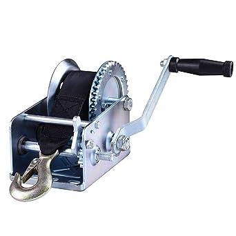 Motorcycle ATV Parts 600lbs Manual Caravan Gear Winch 8M Length Pull Boat Trailer