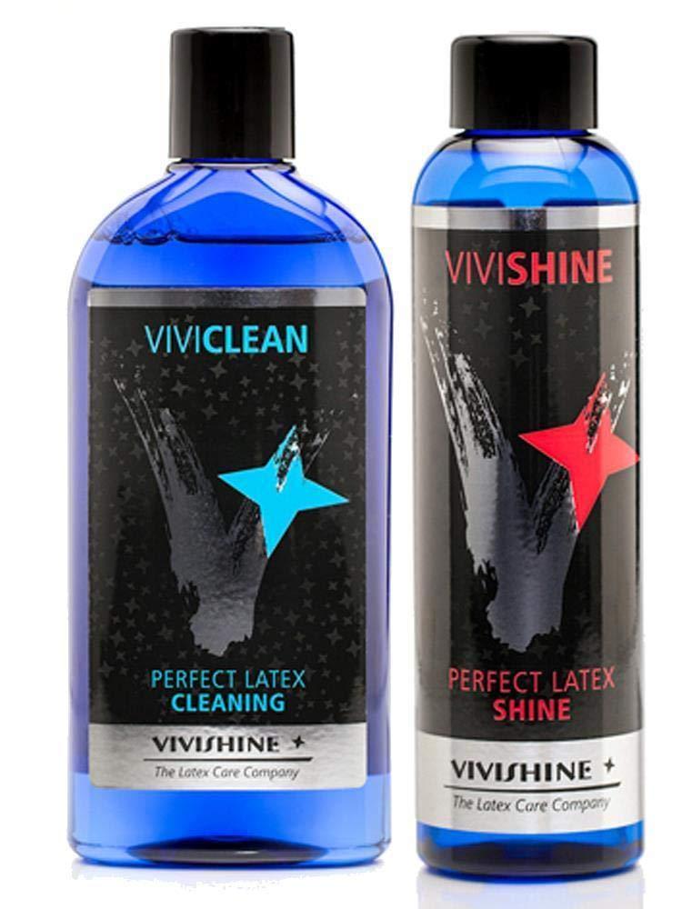 Vivishine 150ml - Viviclean 250ml Combo - for Latex Clothing