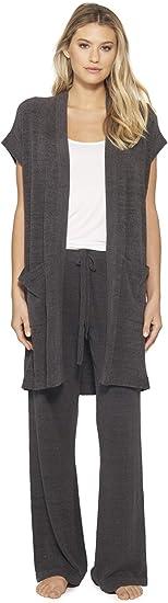 Barefoot Dreams Womens Cozychic Ultra Lite Sleeveless Long Cardigan