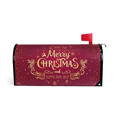WOOR Christmas and New Year Magnetic Mailbox Cover Oversized-20.8 x 25.5