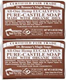 Dr Bronners Magic Soap All One Obeu05 5 Oz Eucalyptus Dr. Bronner'S Bar Soap (Pack of 2)