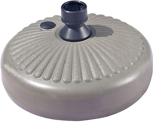 Sombrilla redonda de plástico para sombrilla de 30 kg, soporte ...