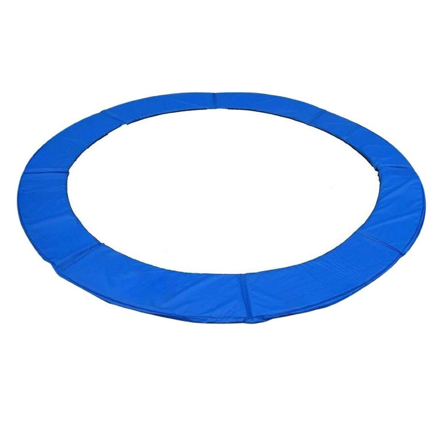 GYMAX Trampoline Pads, 12' Edge Cover Springs Safety Frame Pad Protection Cover Pad Trampoline Accessories (Blue)