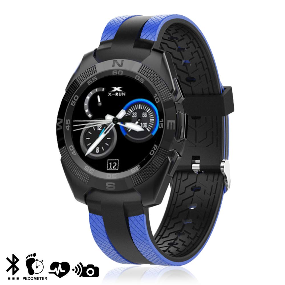 DAM L3 - Smartwatch Bluetooth 4.0, Color Azul