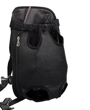 YOUJIA Mochila Bolsa para Perro Gato Mascota, Bolsa de Transporte con Gancho y Correa Ajustable Negro, XL (41*24cm): Amazon.es: Hogar